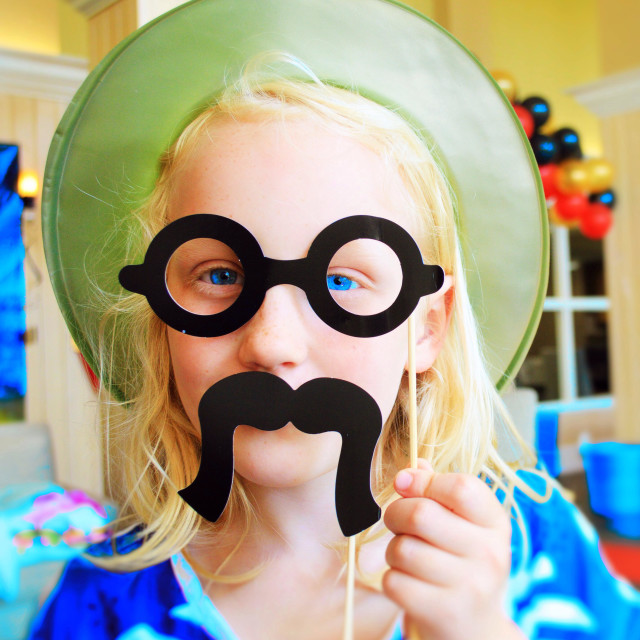 """""""Girl in disguise"""" stock image"""