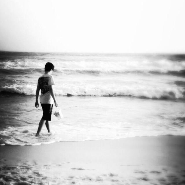 """Boy on the beach"" stock image"