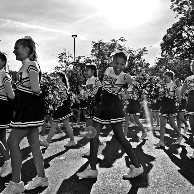"""Happy Cheerleader"" stock image"