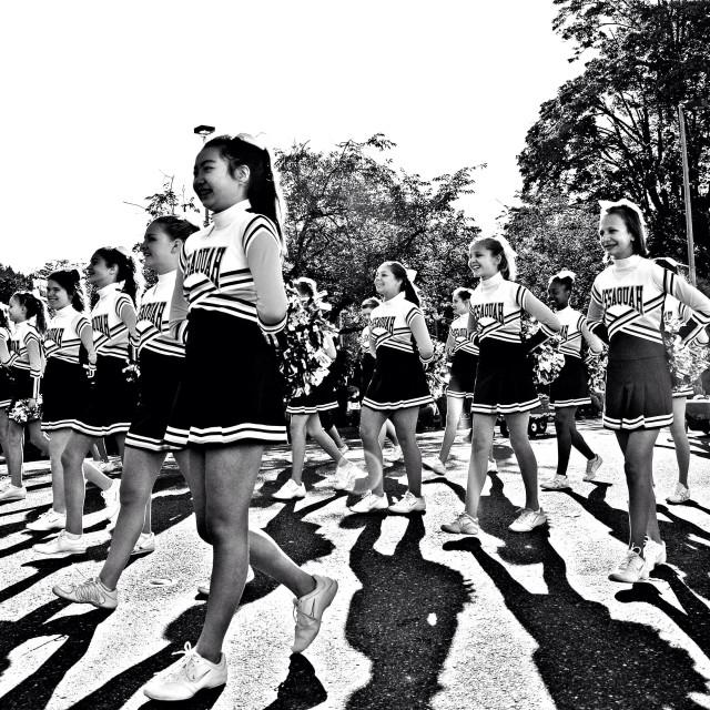"""Cheerleaders"" stock image"