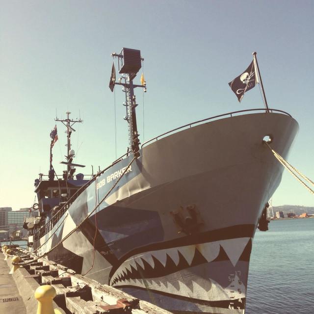"""Pirate boat the Bob Parker"" stock image"