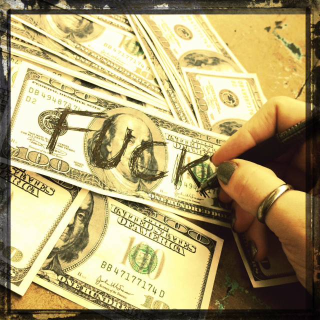 """""""Defaced money"""" stock image"""