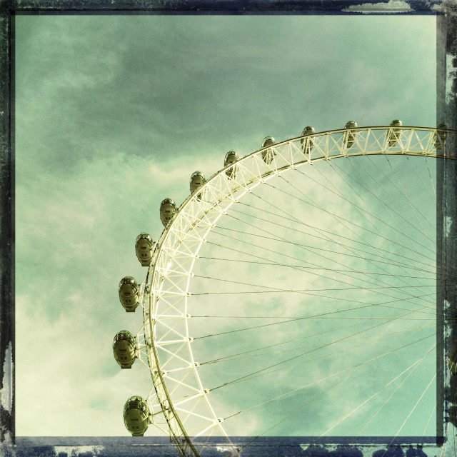 """""""London Eye, retro style"""" stock image"""