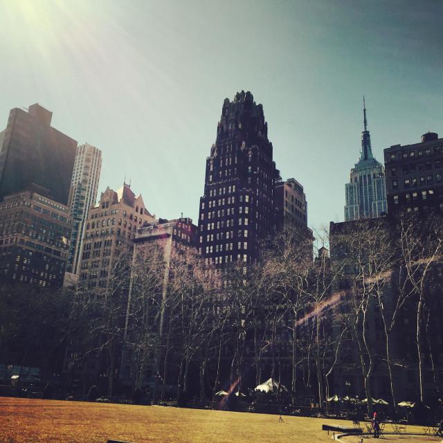 """Bryant Park NYC Manhattan"" stock image"