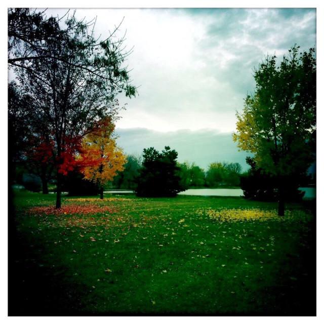"""Pools of Autumn"" stock image"