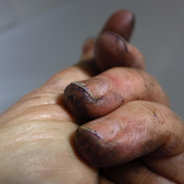 """Dirty fingers"" stock image"