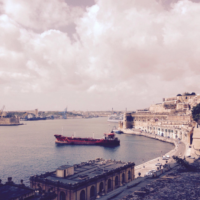 """Valetta Waterfront"" stock image"