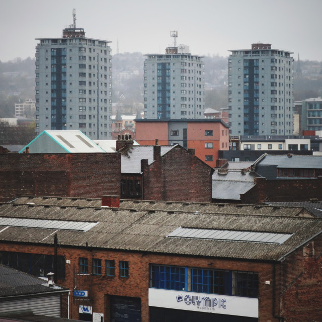 """Sheffield skyline"" stock image"