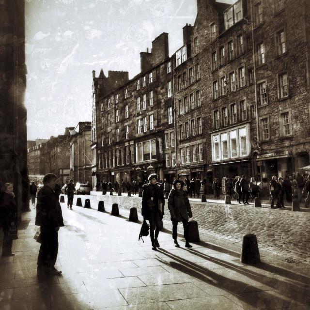 """The Royal Mile, Edinburgh"" stock image"