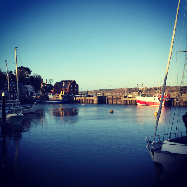 """""""Padstow harbour in Cornwall"""" stock image"""