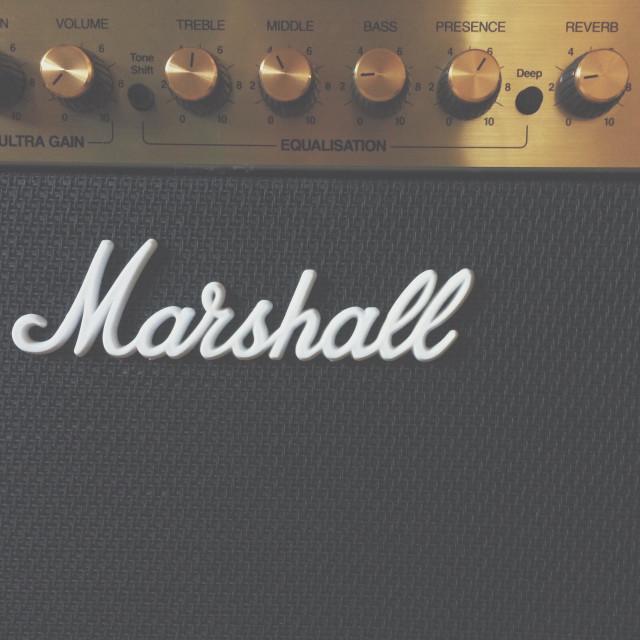 """Marshall guitar amp"" stock image"