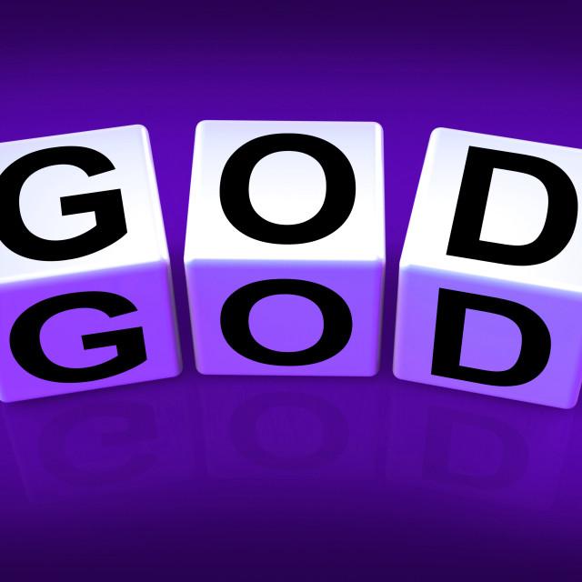 """God Blocks Represent Deities Gods or Holiness"" stock image"