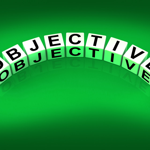 """""""Objective Blocks Mean Goals Targets and Objectives"""" stock image"""