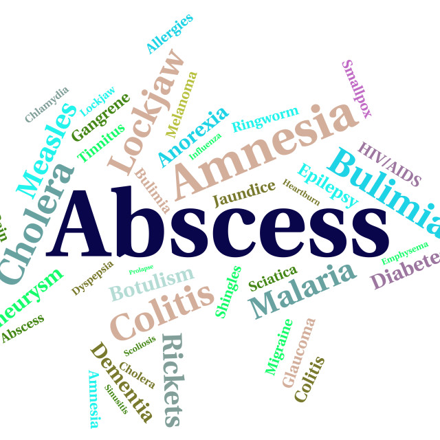"""""""Abscess Illness Means Poor Health And Abcesses"""" stock image"""