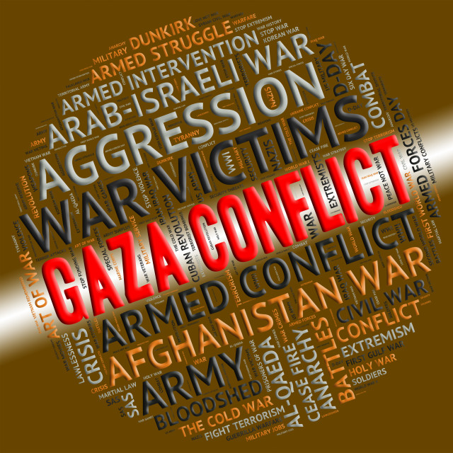"""""""Armed Conflict Represents Gaza Governorate And Bloodshed"""" stock image"""