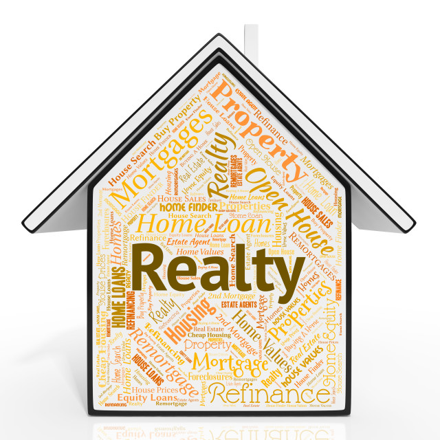 """""""Realty House Represents For Sale And Buildings"""" stock image"""
