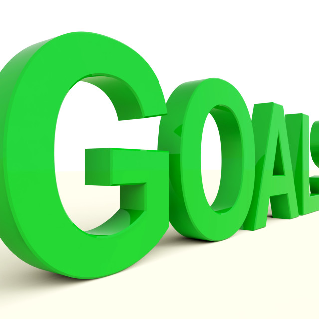 """""""Goals Word Showing Objectives Hope And Future"""" stock image"""