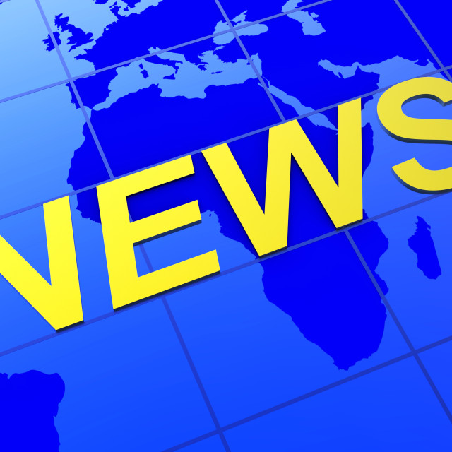 """News World Indicates Article Globalization And Journalism"" stock image"