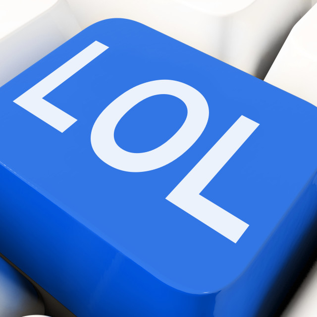"""Lol Keys Mean Laughing Out Loud Or Hilarious."" stock image"