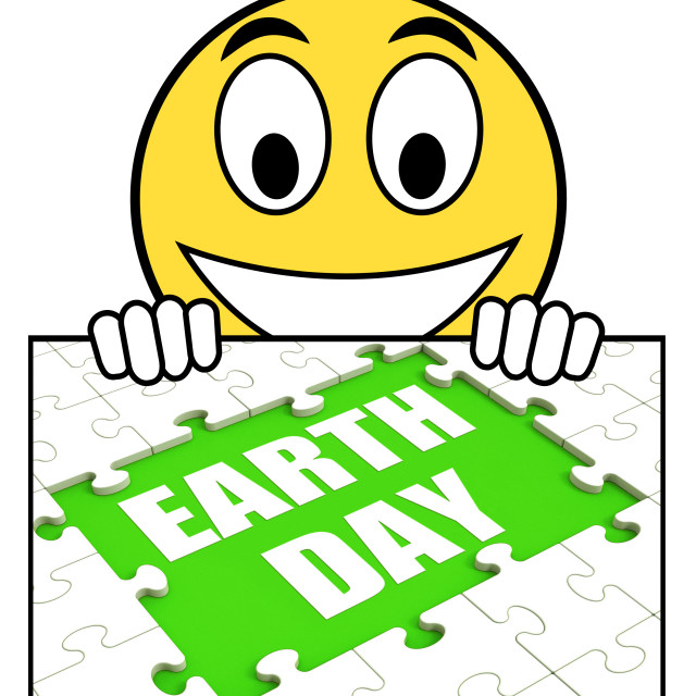 """Earth Day Sign Shows Environmentally Friendly Sustainable And Renewable"" stock image"