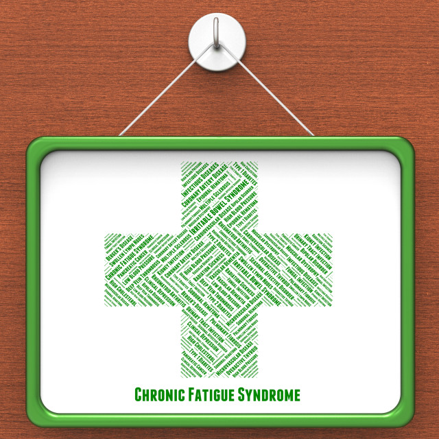 """""""Chronic Fatigue Syndrome Represents Lack Of Energy And Advertise"""" stock image"""