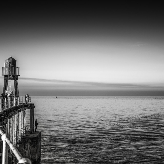 """Whitby in Yorkshire England UK"" stock image"