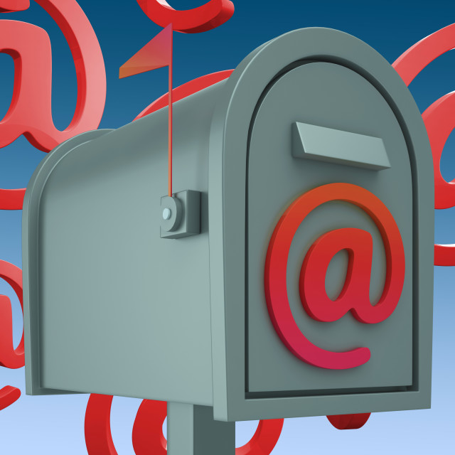 """""""E-mail Postbox Shows Inbox And Outbox Mail"""" stock image"""