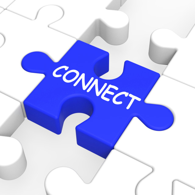 """""""Connect Puzzle Shows Global Communications"""" stock image"""