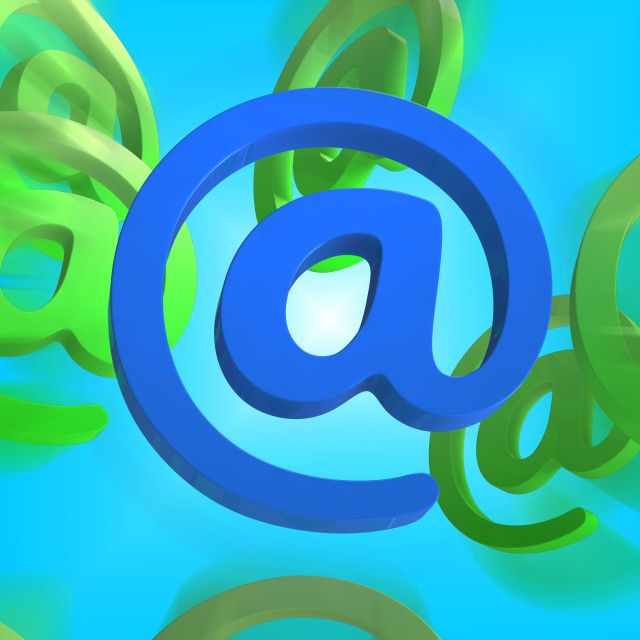 """""""At Sign Shows E-mail Symbol Send Mail"""" stock image"""