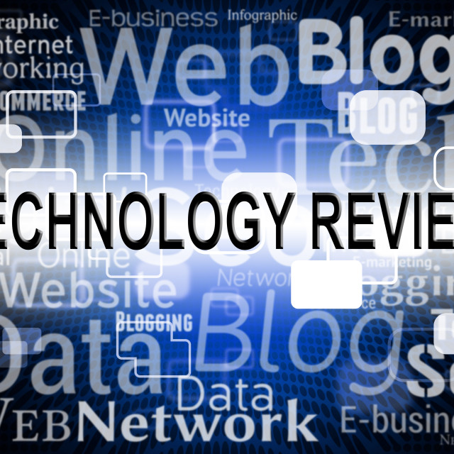 """Technology Review Means Assessment Evaluation And Assess"" stock image"
