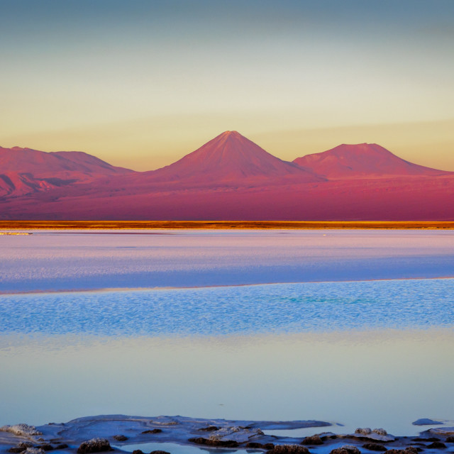 """""""Tebenquinche lagoon in San Pedro de Atacama, Chile."""" stock image"""