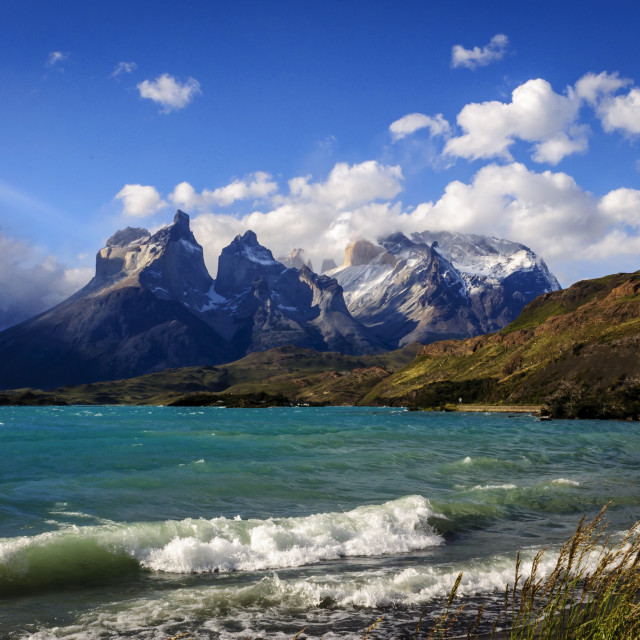 """Torres del Paine national park , Chile"" stock image"