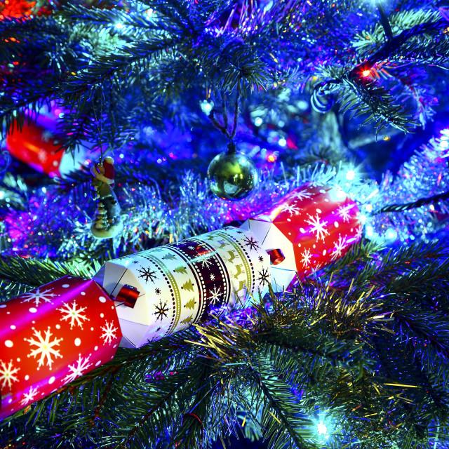 """Christmas cracker"" stock image"