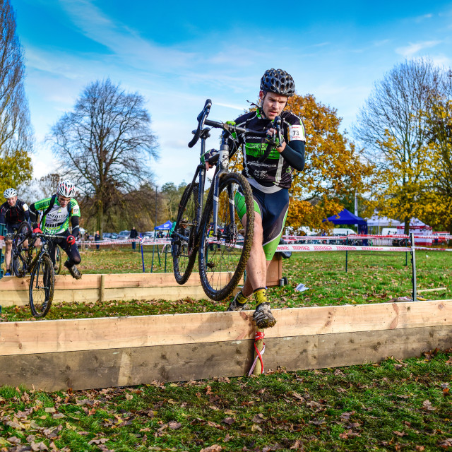 """""""Cyclo-Cross Event Derby,UK."""" stock image"""