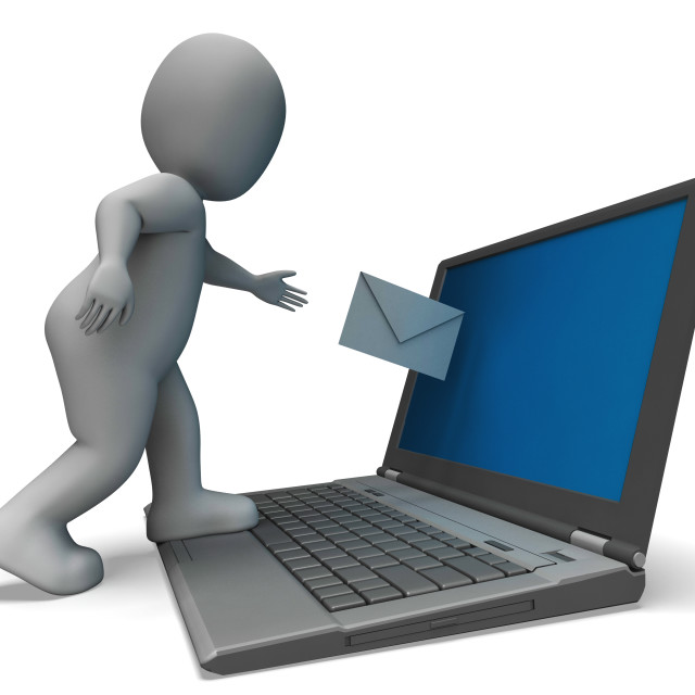 """""""Email From Laptop Showing E-mail Correspondence"""" stock image"""