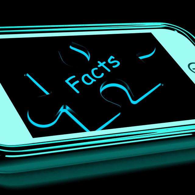 """""""Facts Smartphone Shows True And Honest Answers"""" stock image"""