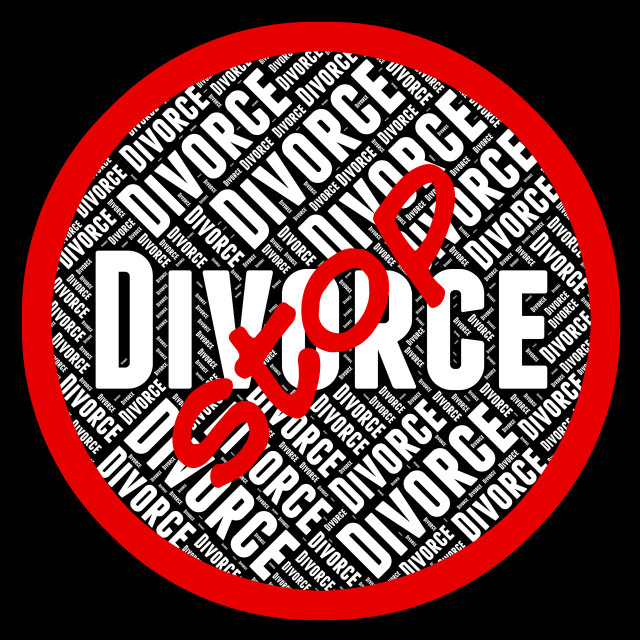 """Stop Divorce Represents Warning Sign And Annul"" stock image"