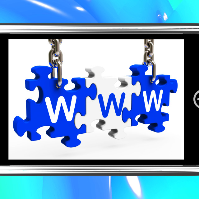 """""""WWW On Smartphone Shows Online Search"""" stock image"""