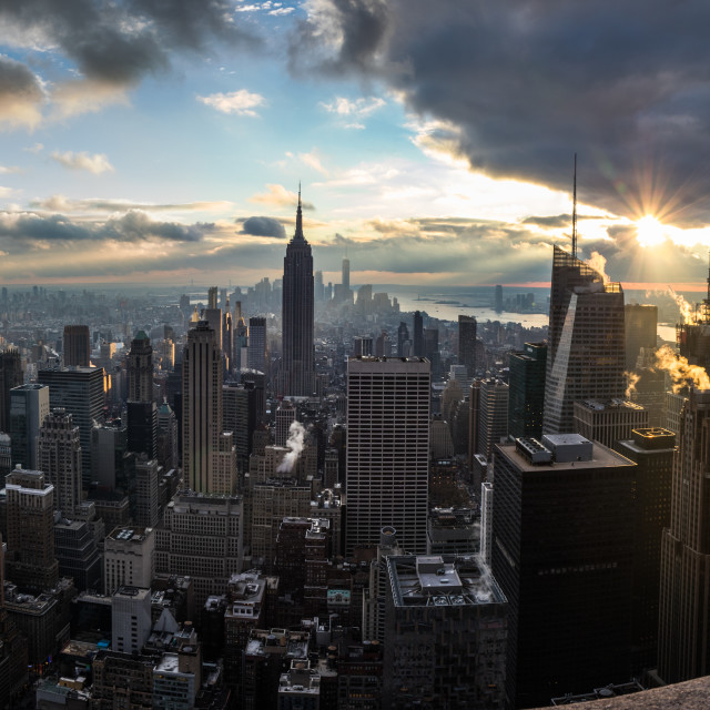 """New York skyscrapers from Rockefeller Centre"" stock image"