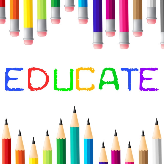 """Education Educate Means Studying Learned And College"" stock image"