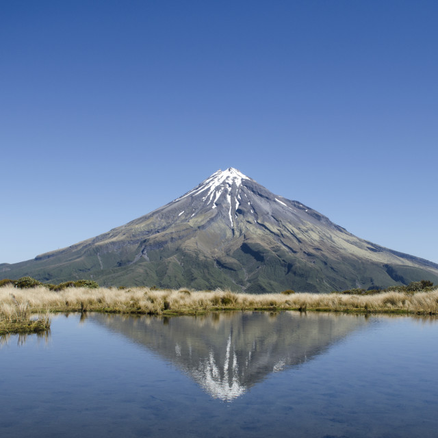 """Taranaki Reflect"" stock image"