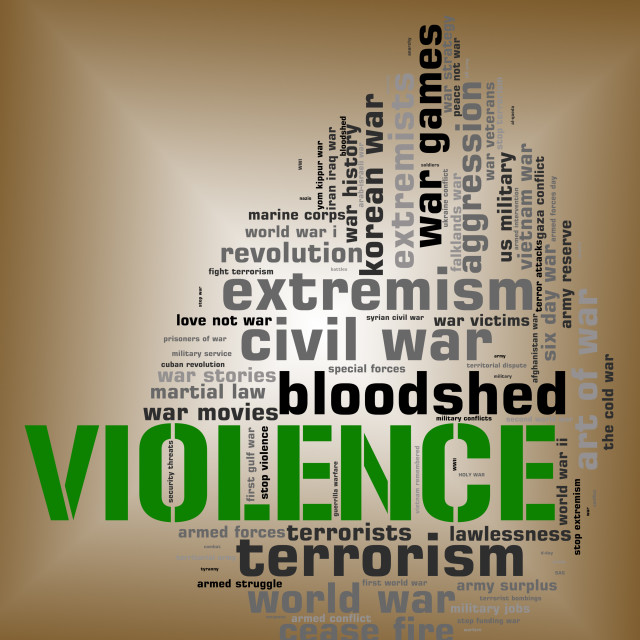 """""""Violence Word Represents Brute Force And Text"""" stock image"""