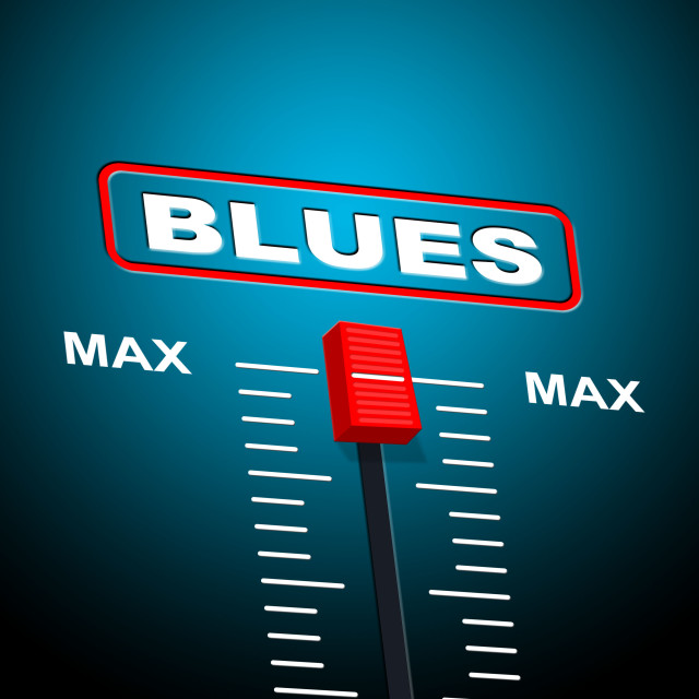 """""""Blues Music Represents Jazz Band And Audio"""" stock image"""