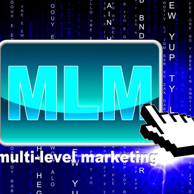 """Multi Level Marketing Shows World Wide Web And Multilevel"" stock image"