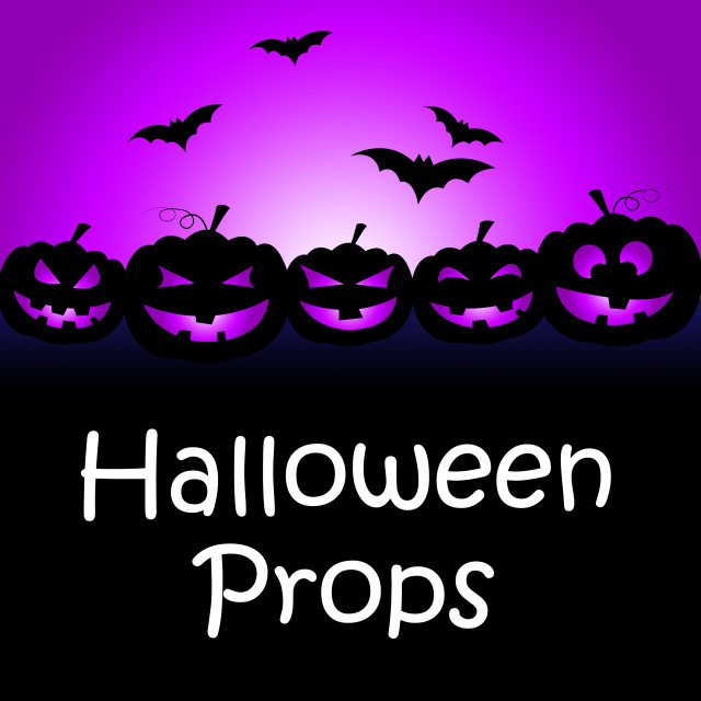 """Halloween Props Shows Trick Or Treat And Accessories"" stock image"