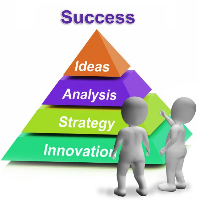 """Life Balance Pyramid Having Family Career Health And Friends"" stock image"