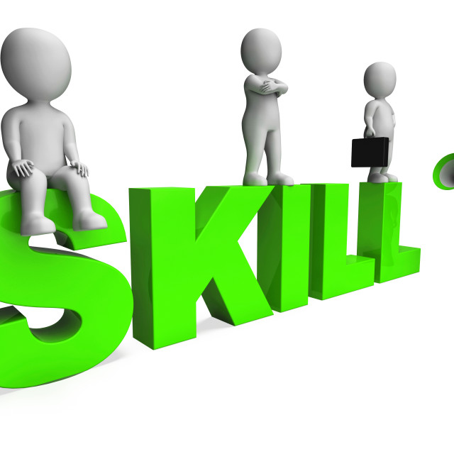 """Skill Characters Shows Expertise Skilled And Competence"" stock image"
