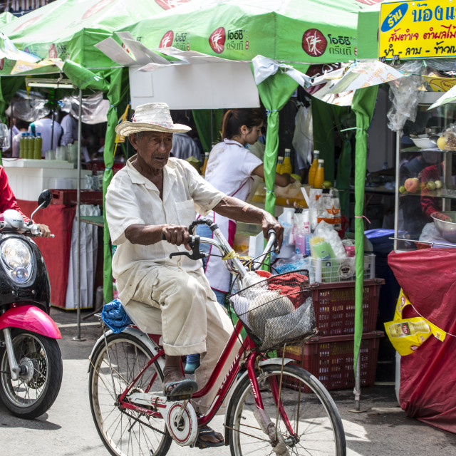 """Old man of Old Phuket"" stock image"