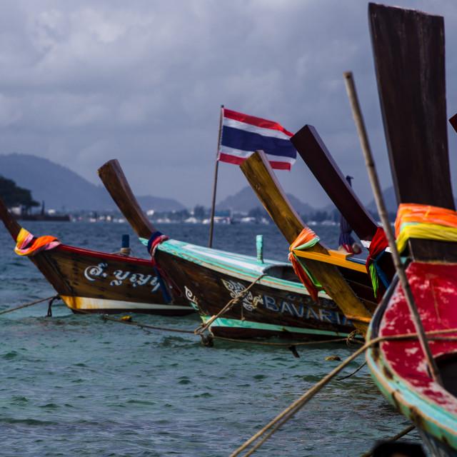 """Longboats"" stock image"