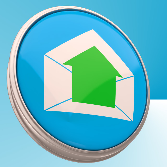 """""""E-mail Symbol Shows Outgoing Electronic Mail"""" stock image"""
